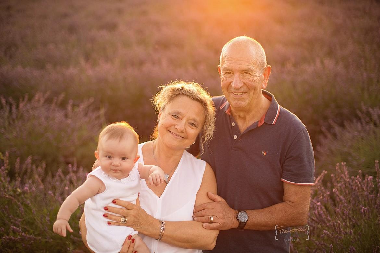 Servizio fotografico con i nonni