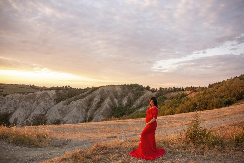 Shooting Maternity al tramonto