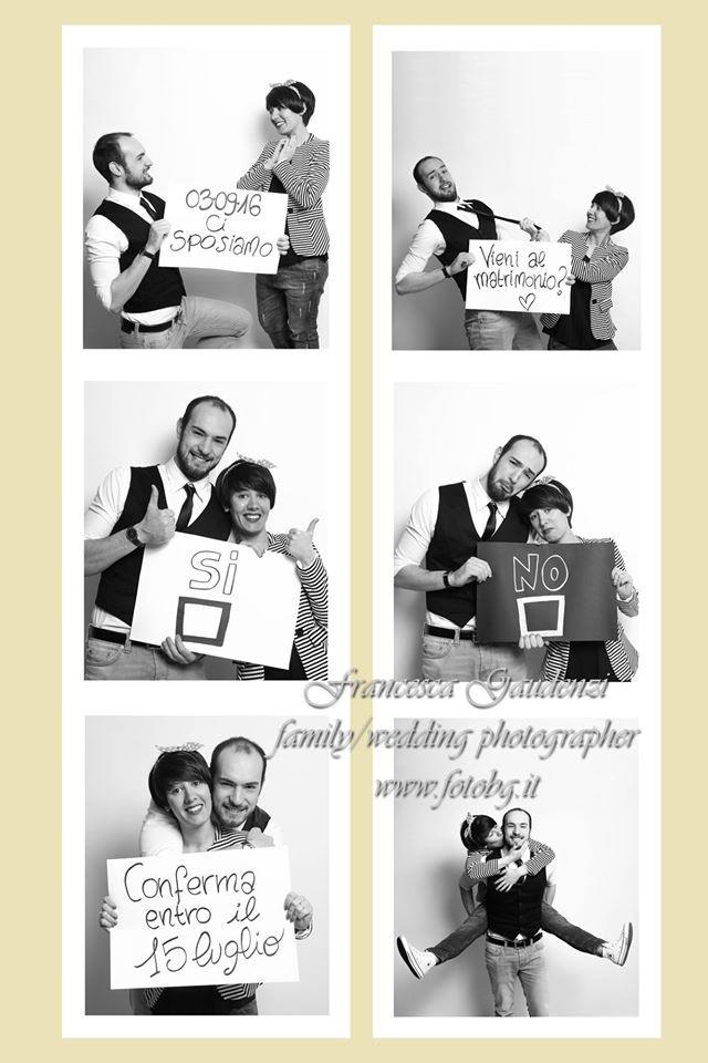La partecipazione di Lorenzo e Annalisa con le foto scattate durante il Save the Date