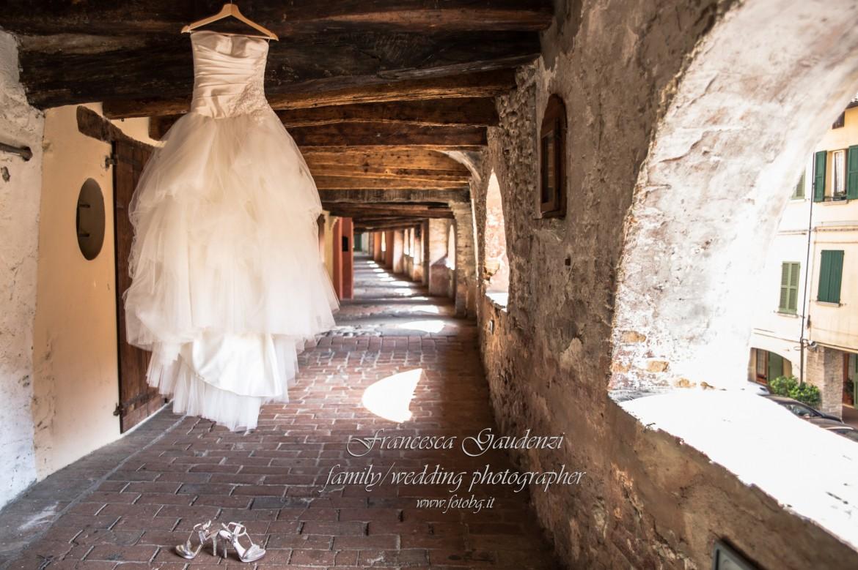 L'abito della sposa nell'Antica via degli Asini - Brisighella